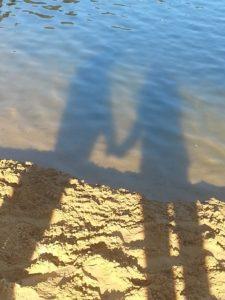 Liebessprüche - Schatten am Strand