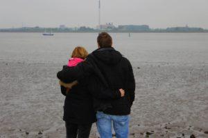 Liebessprüche - Paar am Meer