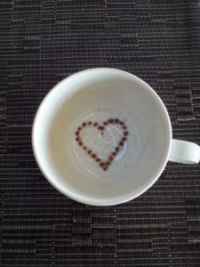 Liebessprüche - Tasse mit Herz