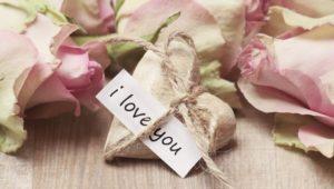 """Ich liebe dich Sprüche - Herz mit """"I love you"""""""
