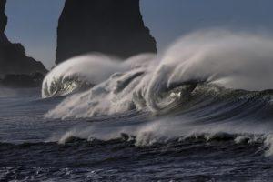 Schwere Zeiten Sprüche - Sturm am Meer